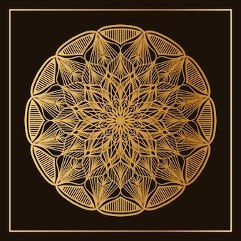 Klassiek gouden mandala patroon