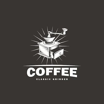 Klassiek grinder logo-ontwerp