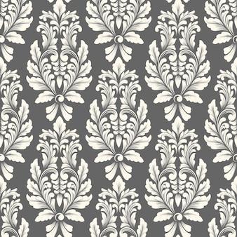 Klassiek het ornament naadloos patroon van het luxe ouderwetse damast