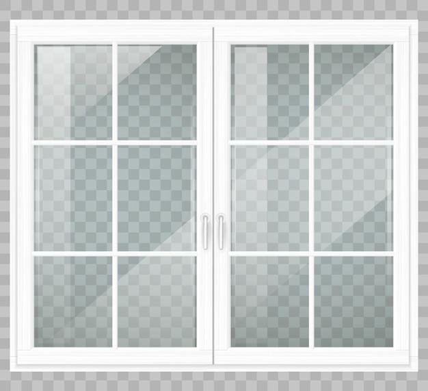 Klassiek houten raam