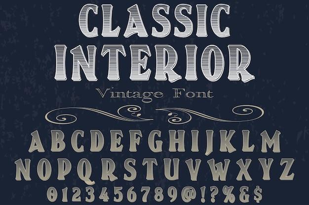 Klassiek interieur lettertype labelontwerp