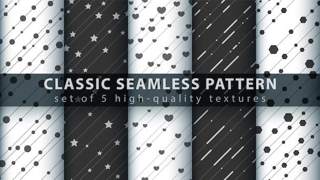 Klassiek liefdehart naadloos patroon