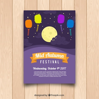 Klassiek midden herfst festival poster