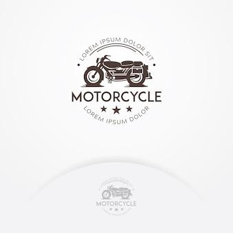 Klassiek motorfiets logo ontwerp