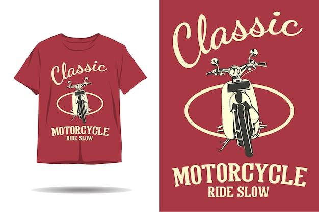 Klassiek motorrit traag t-shirtontwerp