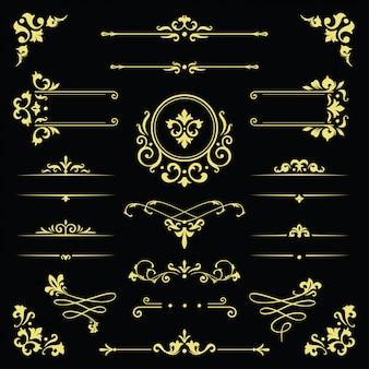 Klassiek ornamentframe, uitstekende grensillustratie
