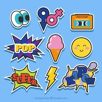 Klassiek pak pop art stickers