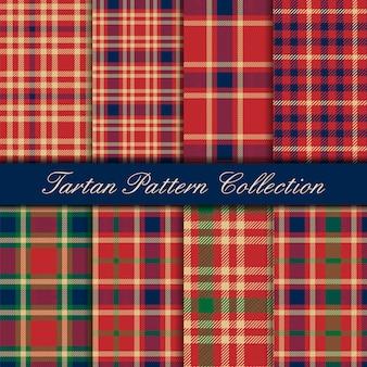 Klassiek rood blauw en groen geruit schots wollen stof naadloos patroon