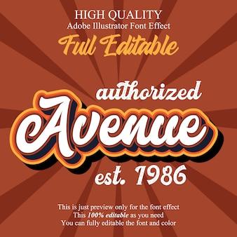 Klassiek script bewerkbaar typografie lettertype-effect