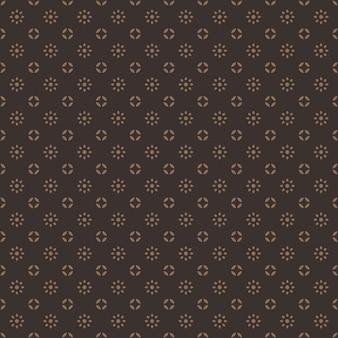 Klassiek traditioneel indonesië batik naadloos patroonbehang als achtergrond in vintage bruine kleur