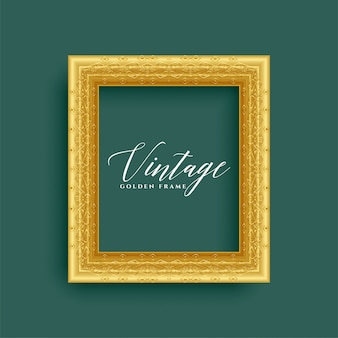 Klassiek vintage koninklijk gouden frame