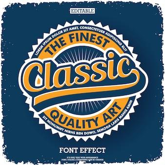 Klassiek vintage logo met ronde retro badge