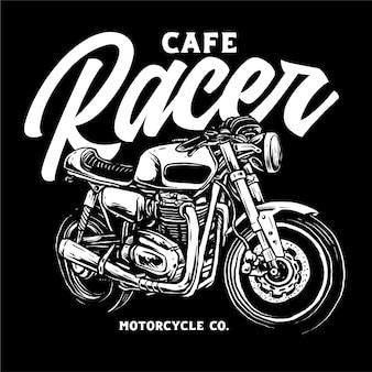 Klassieke aangepaste motorfiets illustratie