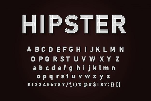 Klassieke alfabet letters set