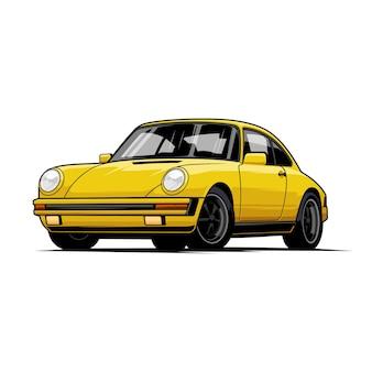 Klassieke auto illustratie