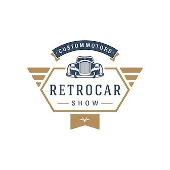 Klassieke auto logo sjabloon ontwerp element vintage stijl