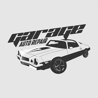Klassieke auto logo vector