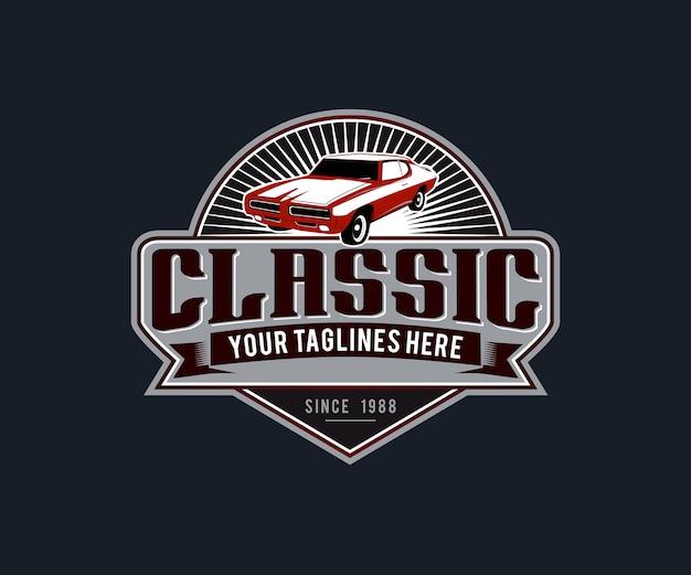 Klassieke auto's logo-illustraties