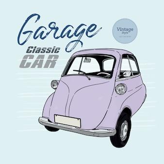 Klassieke auto, vintage stijl. hand tekenen schets vector.
