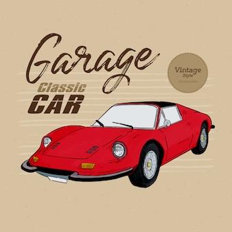 Klassieke auto, vintage stijl