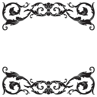 Klassieke barokke decoratieve filigraan.
