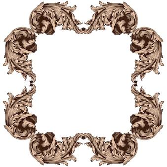Klassieke barokke set van vintage elementen.