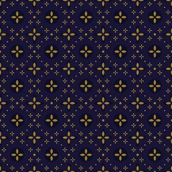 Klassieke batik naadloze patroon achtergrond. luxe geometrisch mandala behang. elegant traditioneel bloemenmotief in paarse kleur