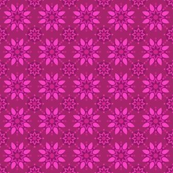 Klassieke batik naadloze patroon achtergrond. luxe geometrisch mandala behang. elegant traditioneel bloemenmotief in roze kleur