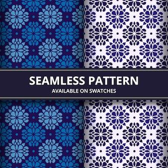 Klassieke batik naadloze patroon achtergrond. luxe mandala behang. elegant traditioneel bloemmotief