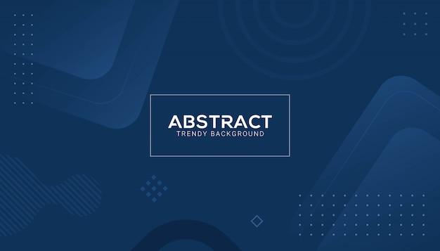 Klassieke blauwe abstracte geometrische vorm