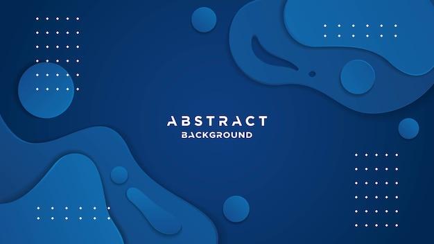 Klassieke blauwe achtergrond met vloeibaar effect