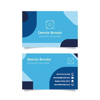 Klassieke blauwe bedrijfskaart