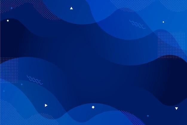 Klassieke blauwe behang abstracte stijl