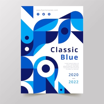Klassieke blauwe flyer-presentatie voor bedrijven