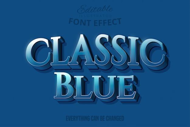 Klassieke blauwe tekst, bewerkbare tekststijl