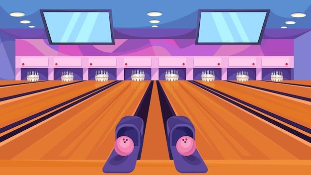 Klassieke bowlingbaan illustratie