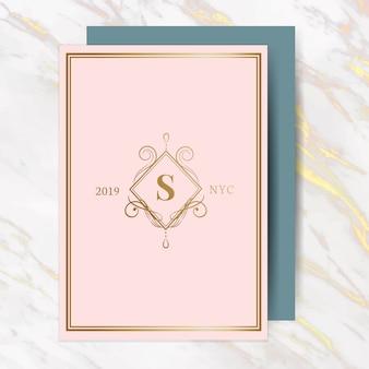 Klassieke bruiloft uitnodigingskaart