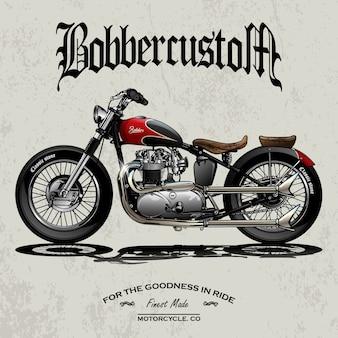 Klassieke chopper motorfiets poster