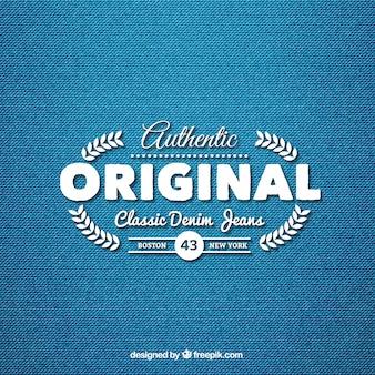 Klassieke denim jeans logo