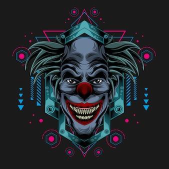 Klassieke donkere clown