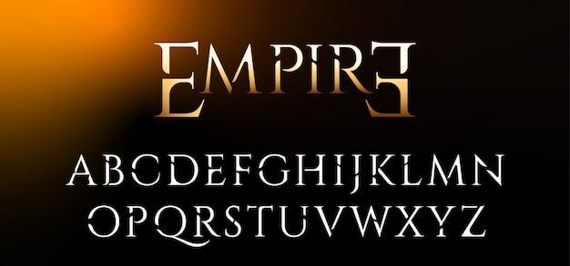 Klassieke elegante decoratieve lettertypeset