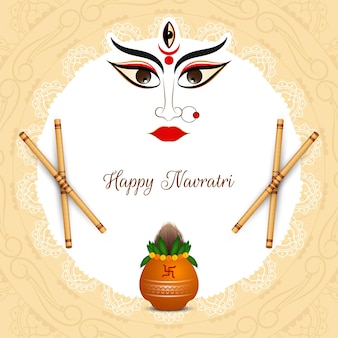 Klassieke etnische happy navratri festival achtergrond vector