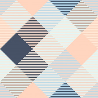 Klassieke geruit ruitpatroon en geruite plaid naadloze patronen