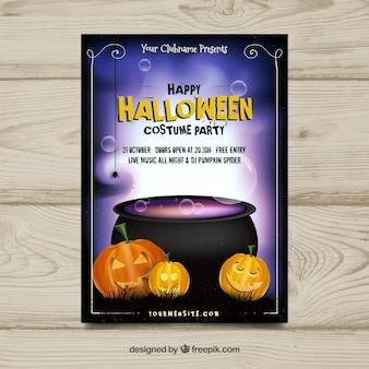 Klassieke halloween poster met realistische stijl