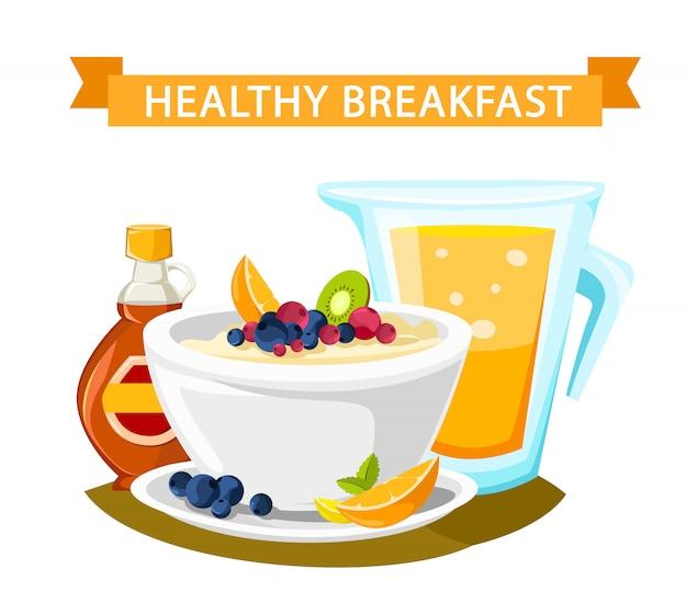 Klassieke hotel ontbijt menu poster