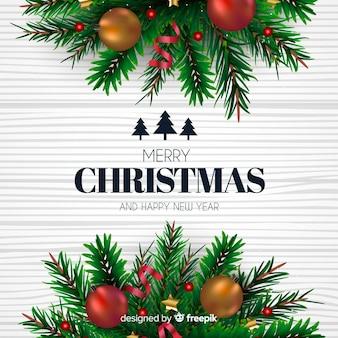 Klassieke kerstmisachtergrond met mooie stijl