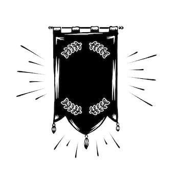 Klassieke lege banner