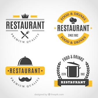 Klassieke logo's voor gastronomische restaurants