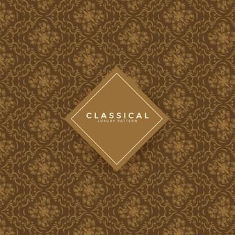 Klassieke luxe naadloze patroon achtergrond