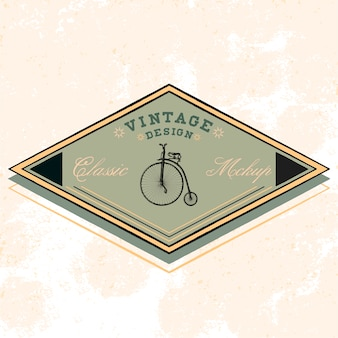 Klassieke mockup logo ontwerp vector